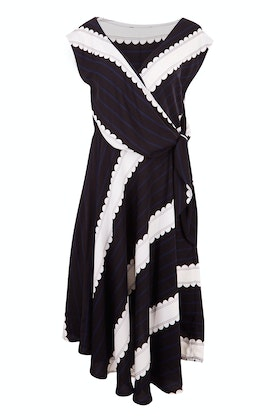 Sacha Drake Patten Faux Wrap Dress