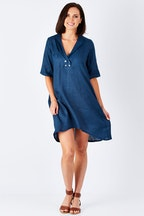 Vigorella Linen Gallery Dress