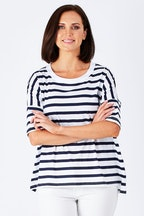 Vigorella Stripe Boxy Top