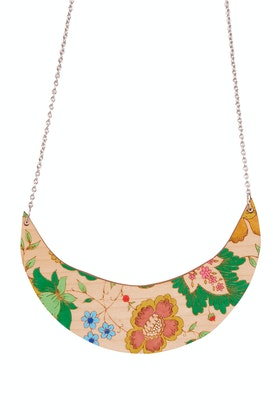 Dressed For Sunday Crescent Hand Painted Necklace