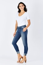Only Carmen Raw Edge Ankle Jean