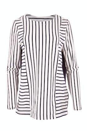Threadz Panelled Stripe Top