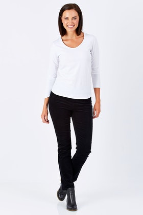 Vassalli Slim Leg Pull On  Cord Legging