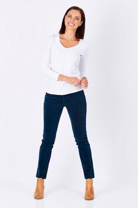 Vassalli Slim Leg Pull On  Cord Legging