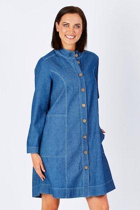 Yarra Trail Indigo Shirt Dress