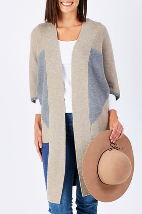 Natural for birds Natural Layered Cardigan