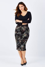 Belle bird Belle Printed Floral Pencil Skirt