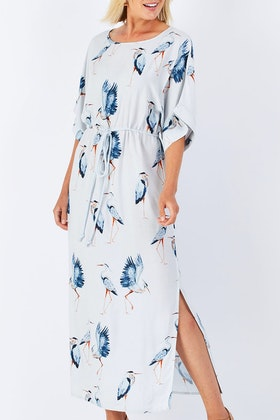 that bird label Rachel  Maxi Dress Flock