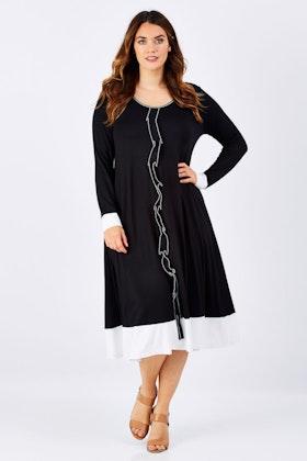 Belle bird Belle Stitch Detail Jersey Dress