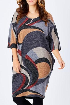Belle bird Belle Abstract Knit Dress
