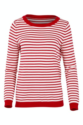handpicked by birds Striped Patch Sweater