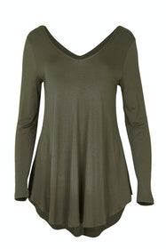 Long Sleeve Softly Swinging Bamboo Tee