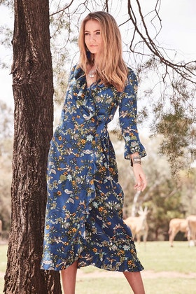 boho bird Frilled For You Dress