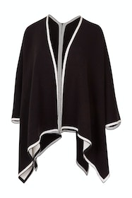 The Contrast Knit Cape