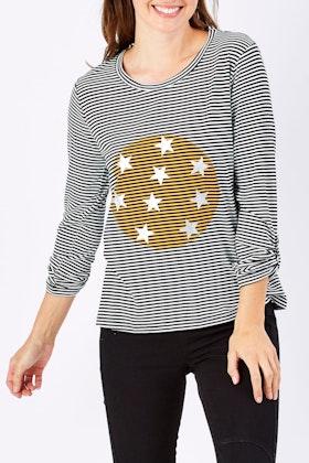 Clarity By Threadz Star Stripe Tee
