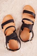 Just Because Santali Flat Leather Sandal
