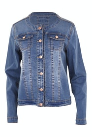 Zip Front Denim Jacket
