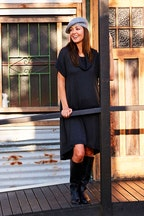 handpicked by birds Rolled Neck Knit Dress