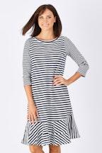 Threadz Ruffle Hem Stripe Dress