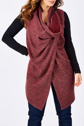 Belle bird Belle Sleeveless Drape Knit Vest