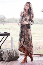 boho bird Cloud Dancer Dress