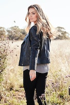boho bird Urban Nomad Leather Jacket