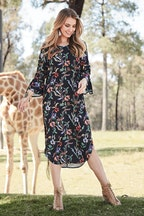 boho bird Desert Flower Dress