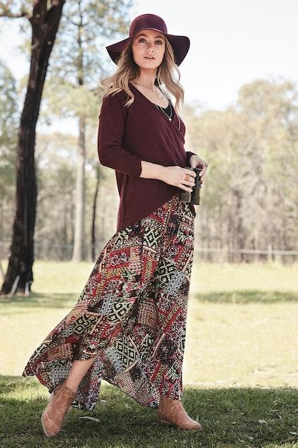 a0cf9669801e boho bird Stay Forever Skirt - Womens Long Skirts - Birdsnest ...