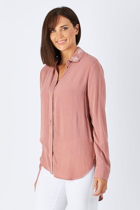 JAG Irena Embroidered Blouse