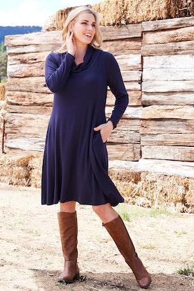 bird keepers The Cowl Neck Jersey Dress