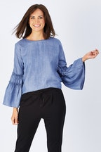 Only Sharon Wide Sleeve Top