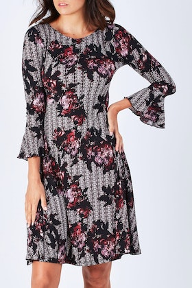 Rebecca Ruby Sadie Fit And Flare Dress