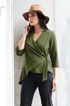 bird by design The Design Fold Wrap Top