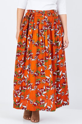 that bird label Loretta Maxi Skirt Carnations