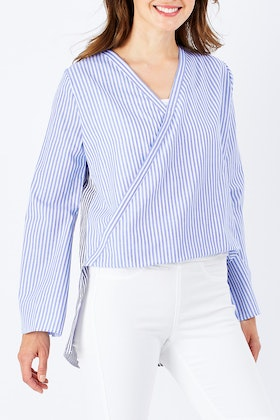 Sass Indi Crosover Front Blouse