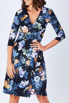 Rebecca Ruby Stacey Wrap Dress