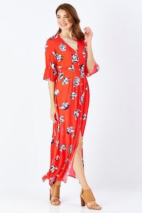 Sass Winter Blooms Maxi Dress