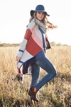 boho bird Tribal Colours Cardigan