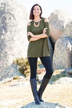 bird keepers The Cut Out Shoulder Tunic