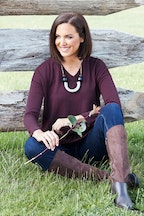 bird keepers The V Neck Knit Tunic