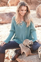 boho bird Honeyguide Laced Sweater
