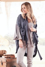 boho bird On Safari Drape Jacket