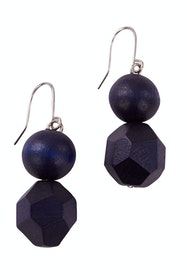Ball And Facet Drop Earrings