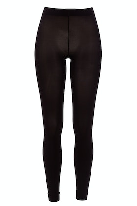 Ambra Totally Black Footless Tights