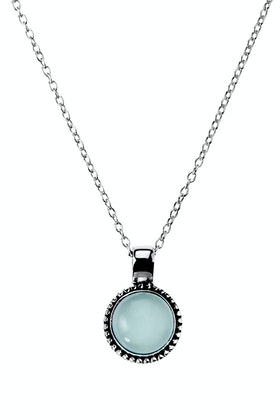 Najo Little Lagoon Chalcedony Sterling Silver Necklace