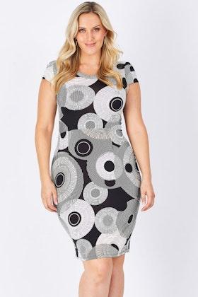 Rebecca Ruby Lexus Print Dress