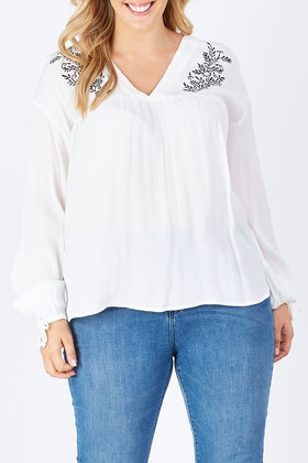 JAG Leonie Embroidery Blouse