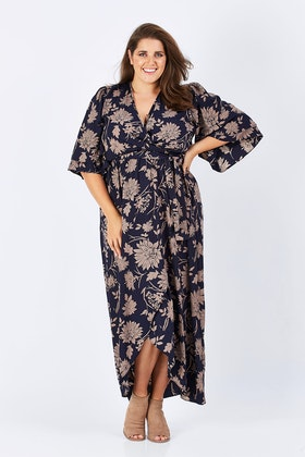 Belle bird Belle Kimono Sleeve Maxi
