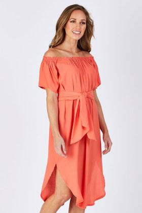 PQ Collection Cocoon Midi Dress