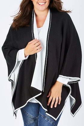 bird keepers The Contrast Knit Cape